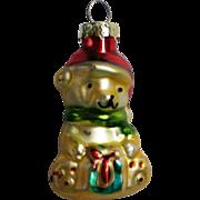 Vintage Mercury Class Miniature Teddy Bear Christmas Tree Ornament