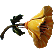 HAR Enameled Flower Brooch