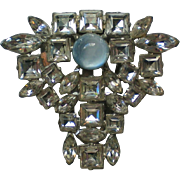 Moonstone Rhinestone Fur / Dress Clip