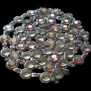 Vintage 1980s Swarovski Caged AB Crystal 36 Inch Necklace