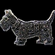 Marcasite Scottie Dog Pin