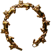 Cat or Kitten Gold Tone Bracelet