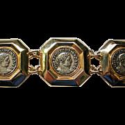 Vintage Ben Amun Greek Coin Bracelet