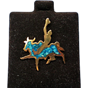 Western Bull Rider Hat, Lapel, or Tie Tack Pin