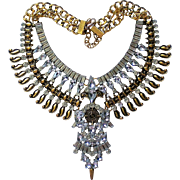 Egyptian Revival Replica Bib Necklace