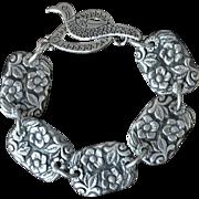 Fine Silver Concho Bracelet