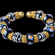 24k Bali Gold Vermeil and Lampwork Bracelet