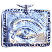 Fine Silver Milagro Pendant to Ward Off Sadness