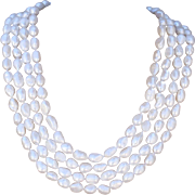 "100"" Long Hand-Knotted Baroque Cultured Freshwater Pearl Necklace"
