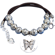 Butterfly Pendant Cowgirl Necklace