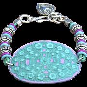 Hand-patinaed Chimayo Medallion Bracelet