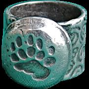 Handmade .999 Fine Silver Bear Claw Ring