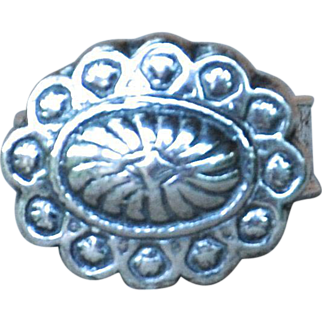 Handmade .999 Fine Silver Concho Style Ring