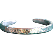 .975% Pure Silver Hammered Handmade Bangle