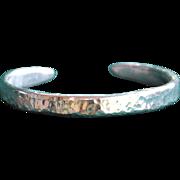 .975% Pure Silver Hammered Handmade Bangle