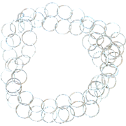 "80"" long .999 Fine Silver Hammered Hoop Chain Necklace"