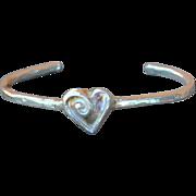 .999 Fine Silver Heart Bangle