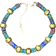 Collectible Trade Bead and Greek Gold Necklace