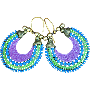 Hand Patinaed Chimayo Hoopster Earrings