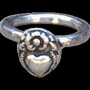 Handmade .999 Fine Silver Heart Ring