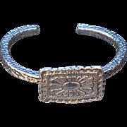 Handmade Fine Silver Western Style Bangle