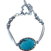 Nepalese Turquoise & Sterling Bracelet