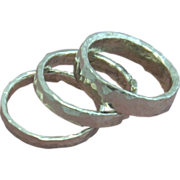 Set of 3: Fine Silver Stacking Rings