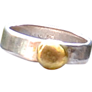 22K Gold over Fine Silver Ring