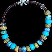 Choker Style Porcelain Bead Necklace