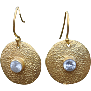 24K Gold Vermeil & Cubic Zirconia Earrings