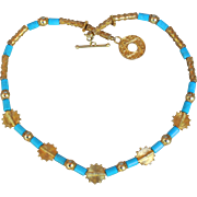 Sleeping Beauty Turquoise & Gold Vermeil Necklace