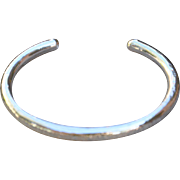 Fine Silver Hammered Bangle