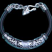 Debutante Biker Thai Bead Bracelet