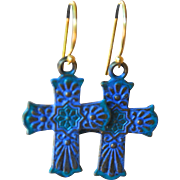 Delicate Style Chimayo Cross Earrings