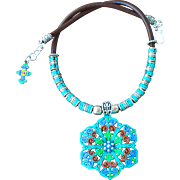 Chimayo Style Florette Medallion Necklace