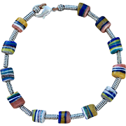 African Glass Bead Choker