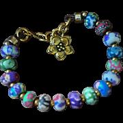 Shabby Chic Clay Bead Bracelet
