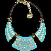 Golden Athena Choker-Style Necklace