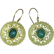 Golden Green Aventurine Earrings