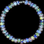Porcelain Flower Choker Necklace