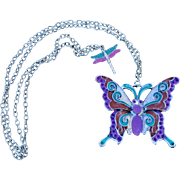 Butterfly Bling Pendant Necklace