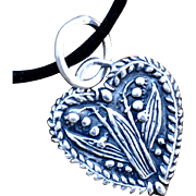 .999 Silver Heart Love & Abundance Pendant