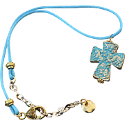 Cherish Cross Pendant on Silk Cord