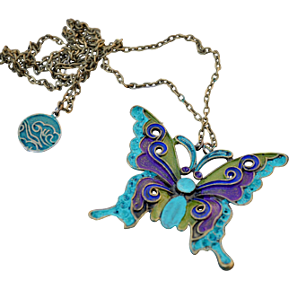Dancing with the Butterfly Pendant Necklace