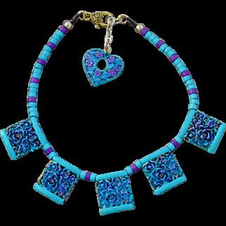 Chimayo Fancy Flower Pendant Necklace