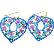 Heart & Butterfly Earrings