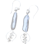 Cultured Freshwater Stick Pearl Earrings