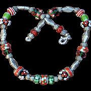 Joy of the Season Lampwork Necklace