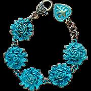 Rosette Bracelet with Heart