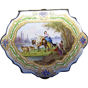 Antique French Sevres Hand Painted AMAZING BOX, Bronze Mounts, 1846
